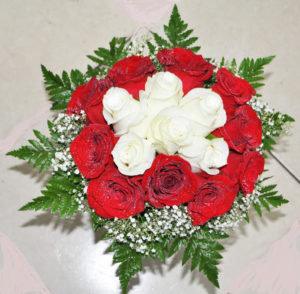 Wedding Bouquet Red and white Roses US$75 - Copy