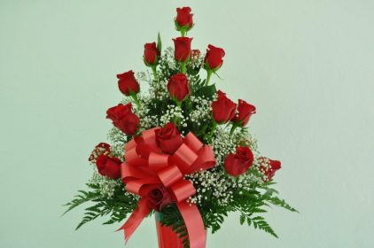 24 Red Rose Arrangement