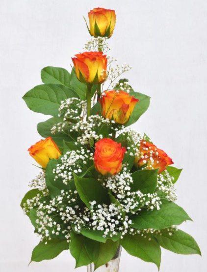 6 Rose Bud Vase