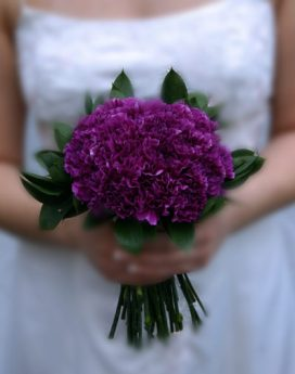 Purple Carnation Bridal Bouquet