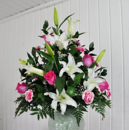 Lily and Rose Arrangement 1
