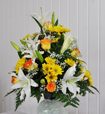 Lily and Rose arrangement 2