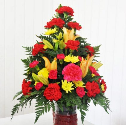Mixed Bouquet Red Dominance