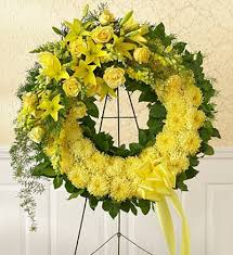 Wreath with Floral Tie