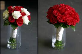 Red Rose and White Rose Bouquets
